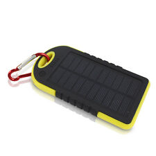 8000mAh Waterproof Solar Power Bank LED Battery 2-USB Charger For Mobile Phone