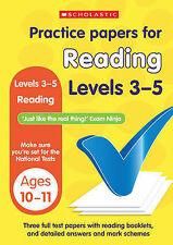 NEW Scholastic KS2 PRACTICE PAPERS for READING Levels 3 - 5  SATS TESTS  10-11
