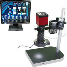 100X 60FPS HDMI VGA HD Industrial C-mount Microscope Camera +Stand & LED Light S