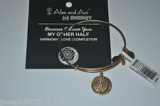Alex and Ani Expandable + Energy Bracelet Russian Gold My Other Half NWT