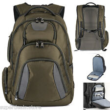 "Basecamp Concourse 17"" Laptop Computer TSA Friendly Backpack - Olive Green"