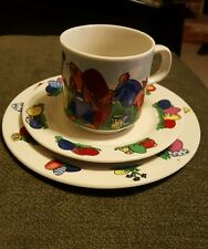 Child's Vintage IGG Easter Rabbit cup, saucer and plate