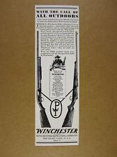 1929 Winchester Model 12 Shotgun & Model 54 Rifle vintage print Ad