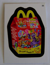 WACKY PACKAGES SERIES ANS #10 - HIPPY MEAL (McDONALD'S) - STICKER #22 - MINT!!