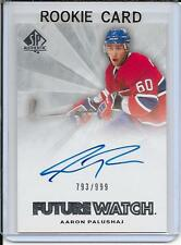 11-12 SP Authentic Aaron Palushaj Future Watch Rookie Auto # 229