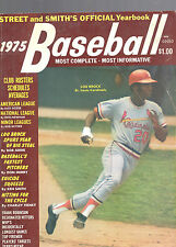 1975 STREET AND SMITH'S BASEBALL OFFICIAL YEARBOOK MAGAZINE-LOU BROCK-CARDINALS