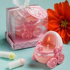 1 Baby Shower Carriage Pink Candle Shower Favor Adorable Girl Child Party Gift