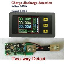 Two-way wireless Digital DC Volt meter Ammeter power Capacity 120V 100A + shunt