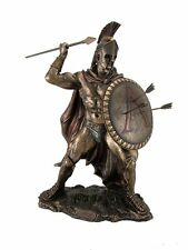"12.75"" Leonidas Greek Warrior King Statue Sculpture Figurine Spartan Decor"