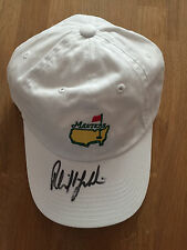 Phil MICKELSON US Masters SIGNED Golf Autograph Masters Cap un-dated AFTAL COA