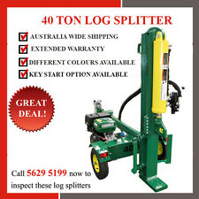 BRAND NEW 40 Ton Black Diamond Petrol Log Splitter Hydraulic 13hp Wood Splitter