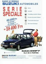 PUBLICITE ADVERTISING 126  1994  Suzuki   la Swift Glx  SE 5 portes