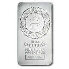 10 oz Royal Canadian Mint Silver Bar - New RCM Silver Bar - SKU #83022