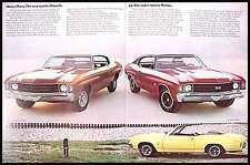 1972 Chevrolet Chevelle Brochure Malibu SS Heavy Chevy, Original 72 Muscle