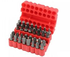 33PC PIECE SECURITY BIT SET SCREWDRIVER BIT TOOL HOLDER TORX STAR HEX 60MM BAR