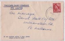 Stamp 3&1/2d QE2 on Capel Dairy Co Capel Western Australia advertising cover