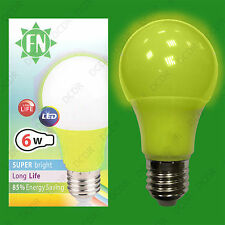1x 6W LED Yell Coloured GLS A60 or as R63 Light Bulb Lamp ES E27 Global 110-265V