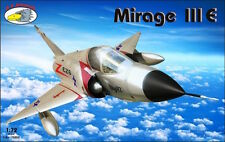RV Aircraft 1/72 Model Kit 72052 Mirage IIIE (6 x camo versions)