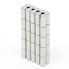 50pcs Strong Magnet 5mm x 10mm Disc Round Cylinder Neodymium Rare Earth N52