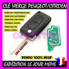 Clé Vierge Peugeot 207 307 308 407 607 + Pile + Transpondeur