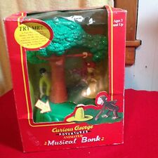 Curious George Adventures Animated Musical Bank 1998 Pacific