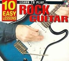 10 Easy Lessons- Learn To Play Rock Guitar CD Size,