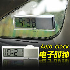 Digital LCD Adsorption Small Clock Dashboard Auto Car Clock Portable Accurate