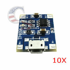10PCS TP4056 5V Micro USB Lithium Battery Charging Board Charger Module Arduin