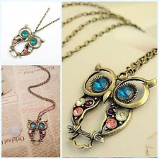 Vogue Chic Colorful Cute Cartoon Owl Carved Hollow Chain Necklace New
