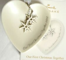 2012 HALLMARK Our First Christmas Together Porcelain Heart  New in Box Ornament
