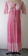 1960's-70's Vintage Women's Maxi Dress 70's Pink Floral Cotton Voile Size S/32