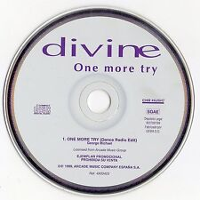 "DIVINE ""ONE MORE TRY"" SPANISH PROMO CD SINGLE / GEORGE MICHAEL - NIKKI - NEW!!!!"