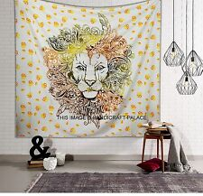Rasta Lion of Judah with Flag Reggae Music Tapestry Indian Wall Hanging Tapestry
