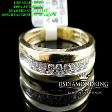 New Mens 10k Two Tone Gold Round Diamond 6mm Engagement Wedding Band Ring 0.25ct