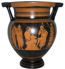 Ancient Greek Column Krater Vase Museum Replica Reproduction