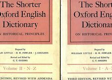 William Little et al. THE SHORTER OXFORD ENGLISH DICTIONARY 2 VOLL.