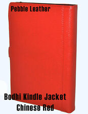 Bodhi Leather Kindle wifi & 3G + wifi Book Jacket Cover- Chinese Red- NEW