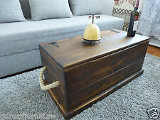 RUSTIC PINE SOLID WOOD CHEST/ TRUNK COFFEE TABLE/ TOY BOX