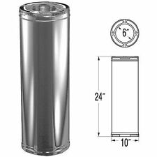"M&G Duravent 6DP-24 6"" x 24"" Duraplus Triple Wall Chimney Vent Pipe"
