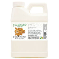16 fl oz Sweet Almond Carrier Oil (100% Pure & Natural) Plastic Jug