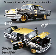 1:18 GMP / ACME 1957 CHEVY BEL AIR SMOKEY YUNICK'S DIECAST STOCK CAR #3