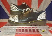 RARE*Baxter Black & White Studded 1461 Dr Doc Martens Shoes*Goth Punk Skinhead*6