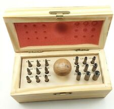 18pc BEZEL Setting Punch Set 0.75mm - 7.75mm Punches Jewelers Kit Jewelry Tools