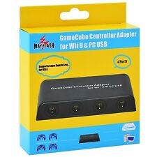 MAYFLASH 4 Port GameCube Controller Adapter for Wii U & PC USB Smash Bros