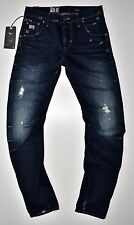 G-Star Raw-Arc 3d slim DK aged Destroy used, vintage look Jeans-w31 l34 nuevo!!!