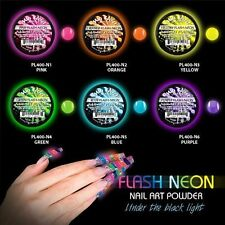 Mia Secret FLASH NEON Acrylic Powder Collection Set of 6 Nail Art BRAND NEW USA