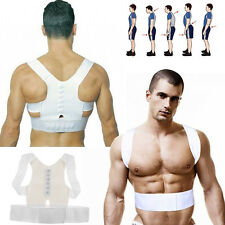 Men Magnet Posture Back Shoulder Corrector Support Brace Therapy Adjustable Belt