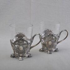 WMF Estilo moderno 2 Set soporte para taza de té / té, Número 916, plateado