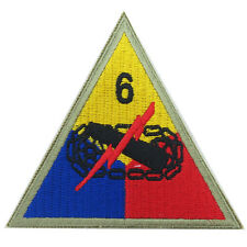 US ARMY 6TH ARMOR SUPER SIXTH DIVISION BADGE -WW2 REPRO