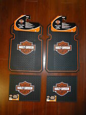 Harley-Davidson Front and Rear Car Truck Rubber Floor Mats Set NEW